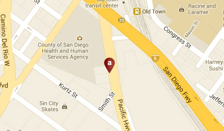 San Diego, California Hotel Location Map