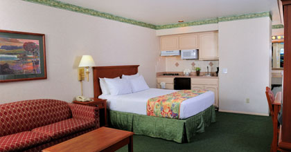 Deluxe Studio with One Queen Bed and Kitchenette at Old Town Inn