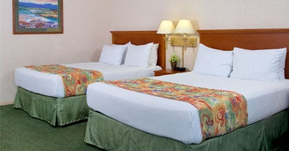 Old Town Inn Deluxe Room with Two Queen Beds